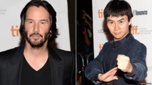 Keanu Reeves and Tiger Hu Chen at the Man Of Tai Chi Premiere