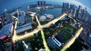 Marina Bay City Circuit in Singapore