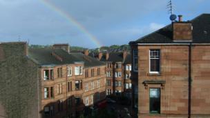 Rainbow over Glasgow
