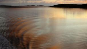 Sunset over West Loch Tarbert