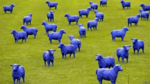 Blue Peace Flock by Rainer Bonk and Bertamaria Reetz, 20 September 2013