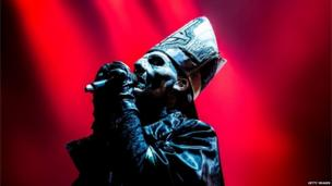 Swedish band Ghost perform in Rio de Janeiro, 20 September 2013