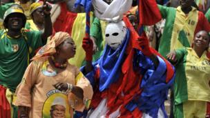 People dressed up at the inauguration ceremony of Mali's President Ibrahim Boubacar Keita - - Thursday 19 September 2013