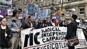 Scottish Independence March in Edinburgh. Photo: Sukneet Sangha