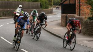 Tour of Britain in Surrey - Compton