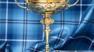 Ryder Cup sitting on specially-commissioned tartan