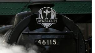The specially-commissioned steam locomotive, the Pullman, is helping mark the one-year countdown to the Ryder Cup 2014