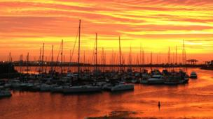 Penarth marina sunrise