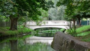 Nant Fawr stream in Roath Park