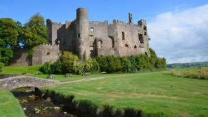 Laugharne Castle in Carmarthenshire