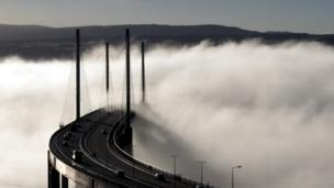 Temperature inversion at the Kessock Bridge