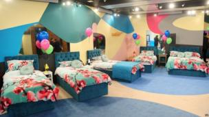 The bedroom of the Big Brother house living room on the opening gala night