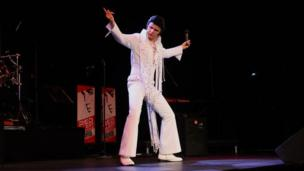 Elvis Presley tribute act at the festival
