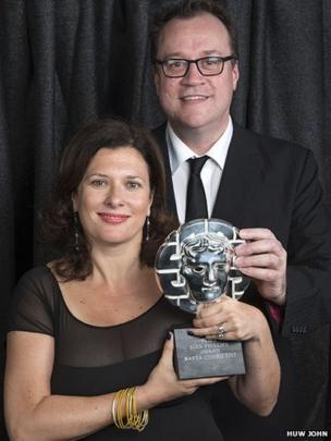 Julie Gardner and Russell T Davies