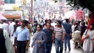 People flock to the main street, The Mall, in Murree at weekends