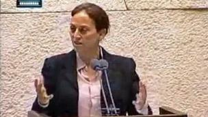Ruth Calderon during her maiden speech to the Knesset