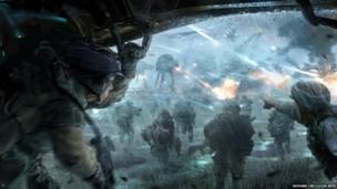 Richard Lim: Rebel Troopers. Concept art for Star Wars First Assault proposed video game (Digital)