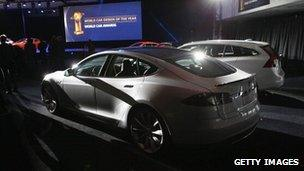Tesla shares fall on report of a car fire - BBC News