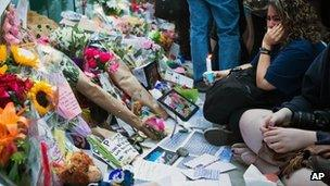 Vigil for Cory Monteith in Vancouver
