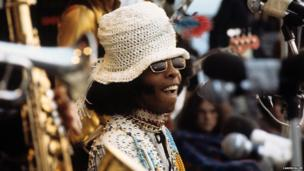 Sly and the Family Stone at the Isle of Wight festival 1970