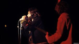The Doors at the Isle of Wight festival 1970