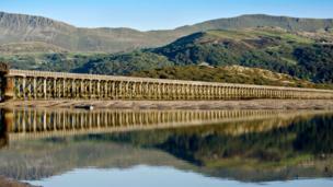 Barmouth railway viaduct, Gwynedd