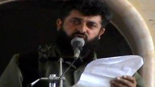 Ahmed al-Sheikh, leader of Suqour al-Sham