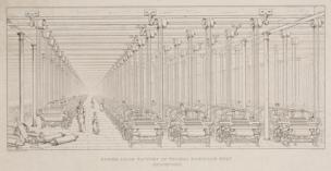 JW Lowry, Thomas Robinson's power loom factory, Stockport, 1849-1850