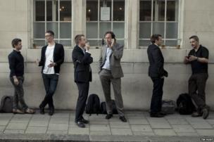 People drinking in London