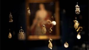 "The pearl cage pendants, included in the Cheapside Hoard: London""s Lost Jewels Exhibition at the Museum of London"