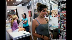 """Getting her tongue pierced was """"exciting and scary"""" says a teen who succumbed to pressure from her best friend."""