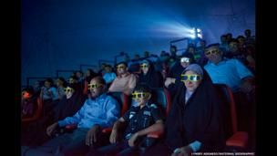 Moviegoers at Baghdad's first 4D cinema