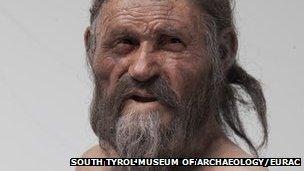 Oetzi reconstruction (South Tyrol Museum of Archaeology/EURAC/Marco Samadelli-Gregor Staschitz)