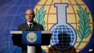 The OPCW's Ahmet Uzumcu in The Hague, 11 Oct