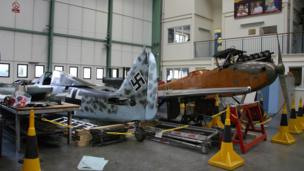 Inside the Michael Beetham Conservation Centre at Cosford