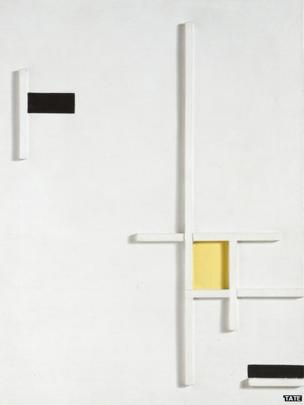 Marlow Moss, Composition in Yellow, Black and White, 1949