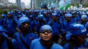 Protest in Jakarta