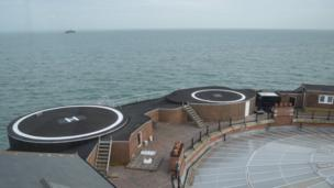 Helipads at No Man's Land Fort