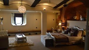 Bedroom at Spitbank