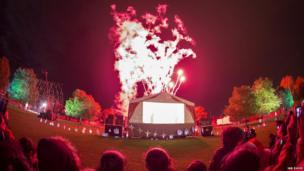 Fireworks at Leicester's Diwali celebrations