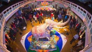 Elephant at Diwali celebrations