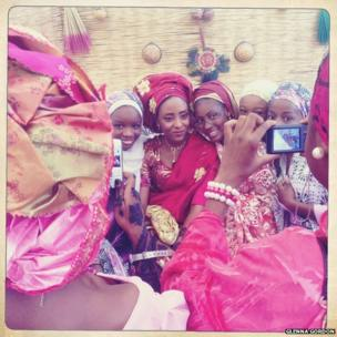 Nigerian wedding guests