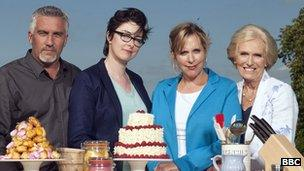 Paul Hollywood, Sue Perkins, Mel Giedroyc and Mary Berry