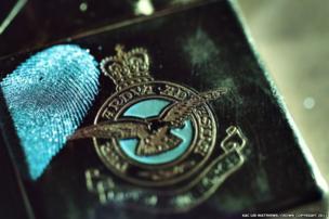 An image of a fingerprint captured on an RAF Lighter