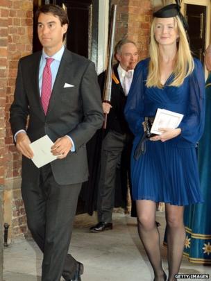 William van Cutsem with wife Rosie