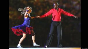 Rugby League World Cup opening ceremony - Martin Offiah and Erin Boag