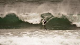 Surfers at Newquay