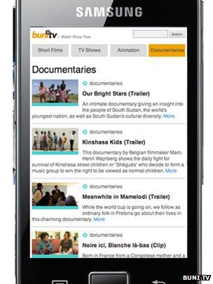 Buni TV on mobile
