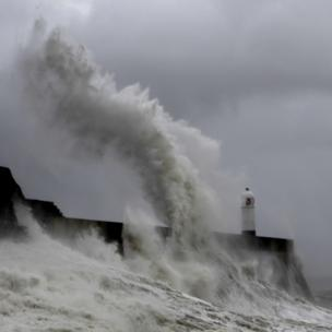 Another image of the stormy seafront at Porthcawl at the weekend, this time from Christine Harbourne
