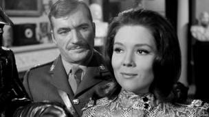 Nigel Davenport and Diana Rigg in The Avengers